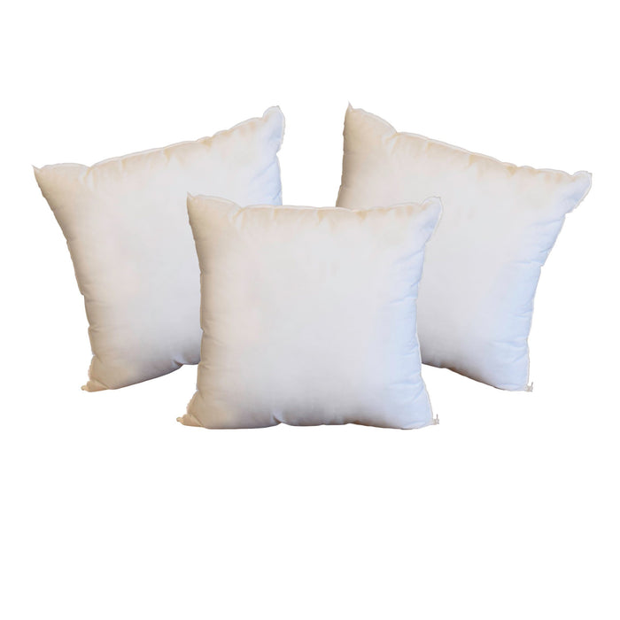 16 x 16 Pillow Inserts *Made in Seattle, USA* (3-Pack)