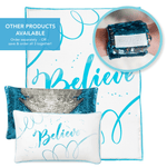 BELIEVE Blanket (100% Velvet) - Mermaid Pillow Co