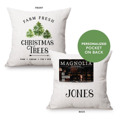 Fresh Christmas Trees Pocket Pillow
