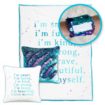 CONFIDENCE Pillow & Velvet Blanket Set (+ FREE Bracelet) - Mermaid Pillow Co