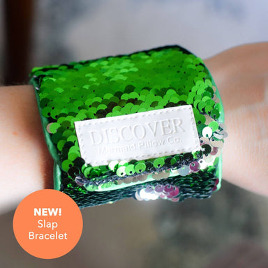 "**NEW SLAP BRACELET** - Magic DISCOVER ""Slap"" Mermaid Bracelet w/ Reversible Sequins & Velvet Lining - Mermaid Pillow Co"