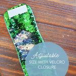 *The Original* Magic DISCOVER Mermaid Bracelet w/ Green & Silver Reversible Sequins
