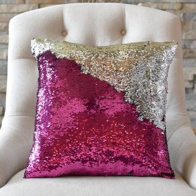 Fuchsia Pink & Silver Sequin Mermaid Pillow *Limited Edition* - Mermaid Pillow Co