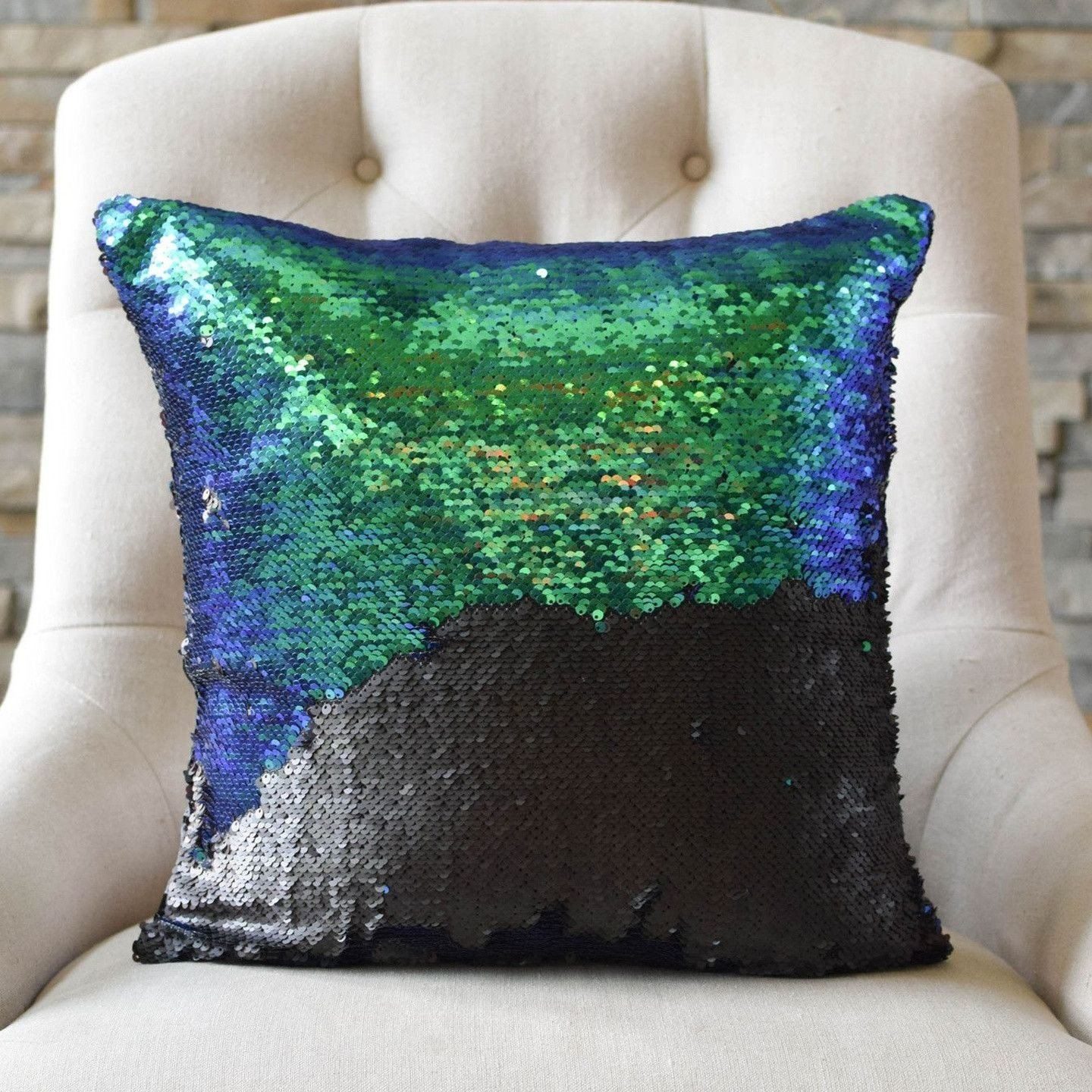 Amazing Blue And Black Pillows Part - 11: Mermaid Pillow Co