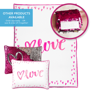 LOVE Blanket (100% Velvet) - Mermaid Pillow Co