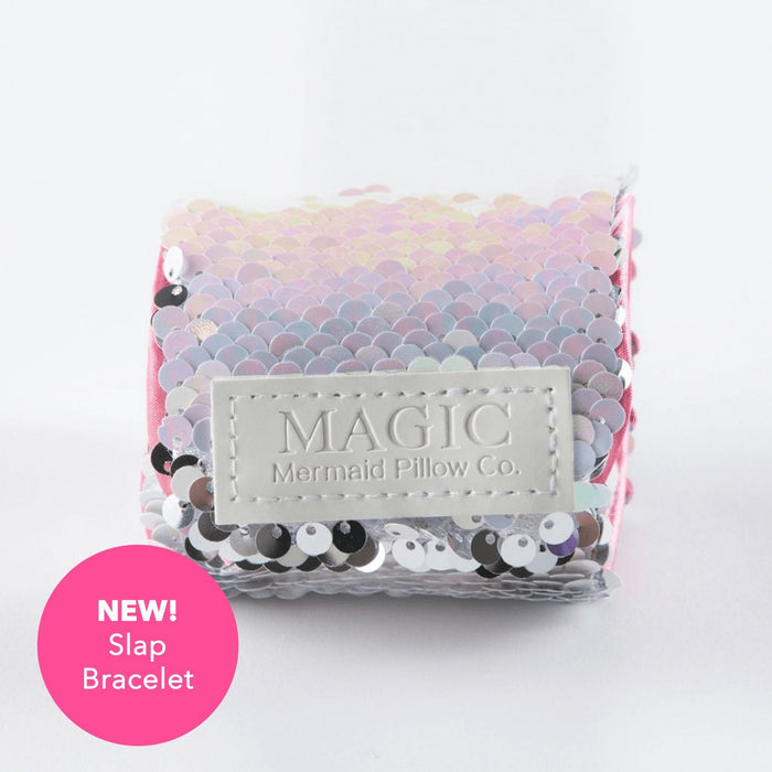 "**NEW SLAP BRACELET** - UNICORN ""Slap"" Mermaid Bracelet w/ Reversible Sequins & Velvet Lining - Mermaid Pillow Co"