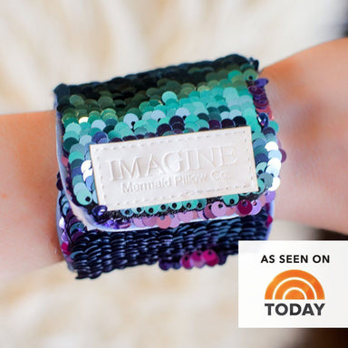 *Velcro Original* - Magic IMAGINE Mermaid Bracelet w/ Reversible Sequins & Velvet Lining - Mermaid Pillow Co