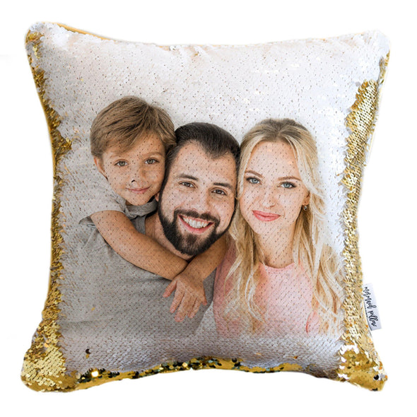 PortraitPillows: Your HIDDEN PHOTO on Reversible Sequin Pillow Cover!
