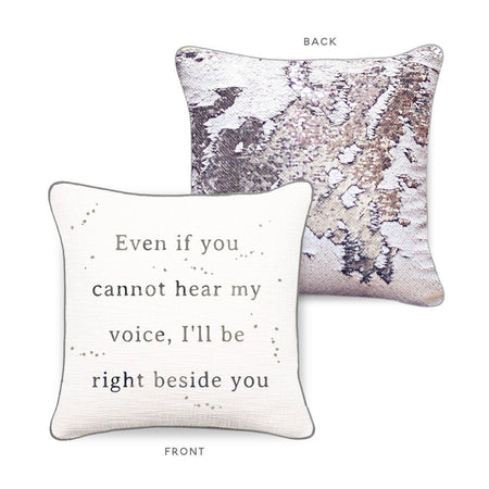 RIGHT BESIDE YOU Mermaid Pillow w/ Iridescent & Silver Sequins - Mermaid Pillow Co