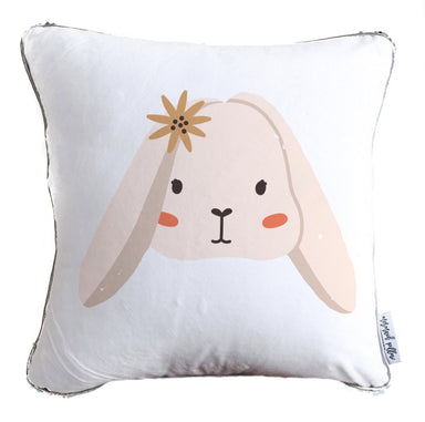 Adorable Bunny Decorative Kids Pillow w/ Reversible Gold and White Sequins - COVER ONLY (Inserts Sold Separately)