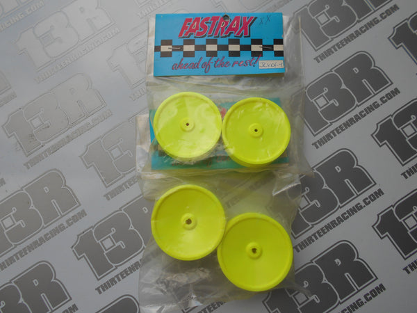 Team Losi XX Fastrax Front & Rear Dish Wheel Set - Yellow, XXX