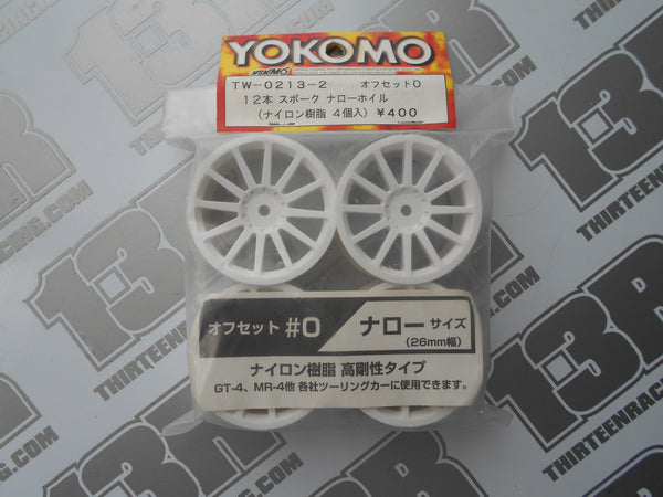 Yokomo 12 Spoke 26mm Touring Car Wheels (4pcs), TW-0213-2, Rally, 12mm Hex fit