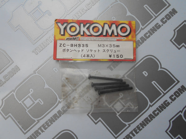 Yokomo M3 Button Head 35mmm Screws (4pcs), ZC-BH335