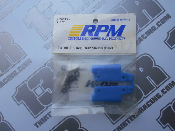 Team Associated RC10 GT RPM 3 Degree Rear Mounts - Blue (Pr), # 70535