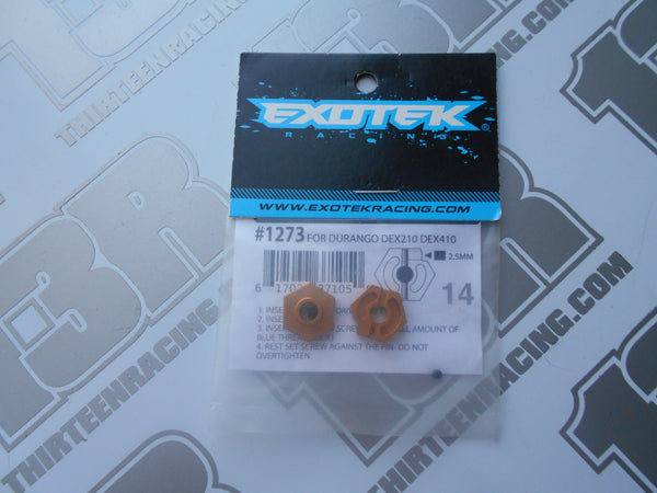Team Durango DEX210/DEX410 Exotek Aluminium 14mm Wheel Hex - Gold (2pcs), # 1273