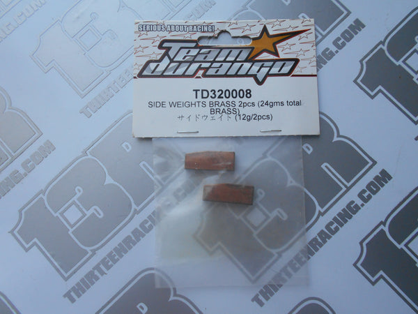 Team Durango DEX410 12g Brass Side Weights (2pcs), TD320008, 2010, R, V3, V4, DESC410