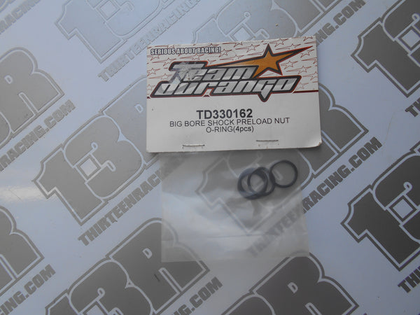 Team Durango Big Bore Shock Preload Nut O-Ring (4pcs), TD330162, DEX210, DEX410, DESC, DEST