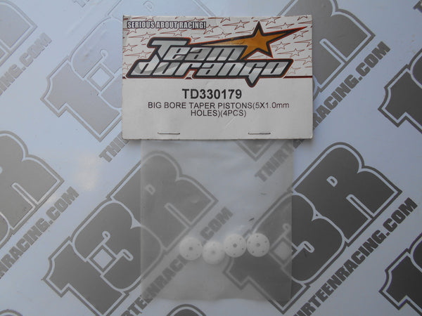 Team Durango Big Bore Taper Pistons 5x1.0mm Holes (4pcs), TD330179, DEX210, DEX410, DESC, DEST