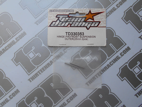 Team Durango DEX210 Front Outer Hinge Pin 25mm (2pcs), TD330353, V2, V3, DEX210F, DESC, DEST