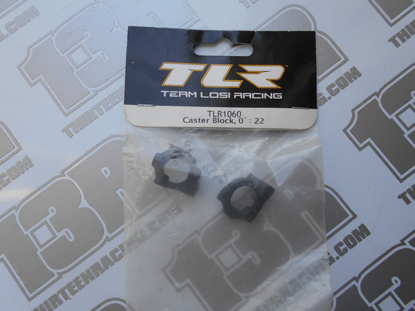 TLR 22 Caster Block 0 Degree (Pr), TLR1060, 22T, 22-SCT