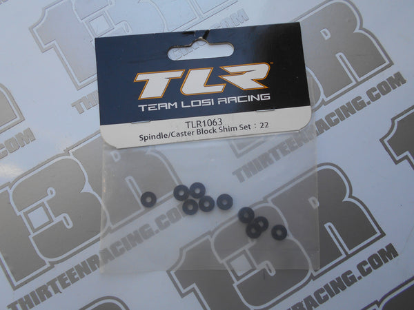 TLR 22 Spindle/Caster Block Shim Set, TLR1063, 22 2.0, 22T, 22-SCT