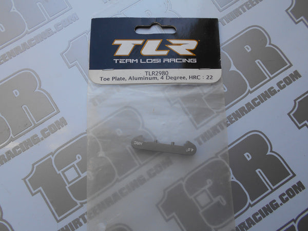 TLR 22/T/SCT Aluminium Rear Toe Plate, 4 Degree - HRC, TLR2980, 2.0