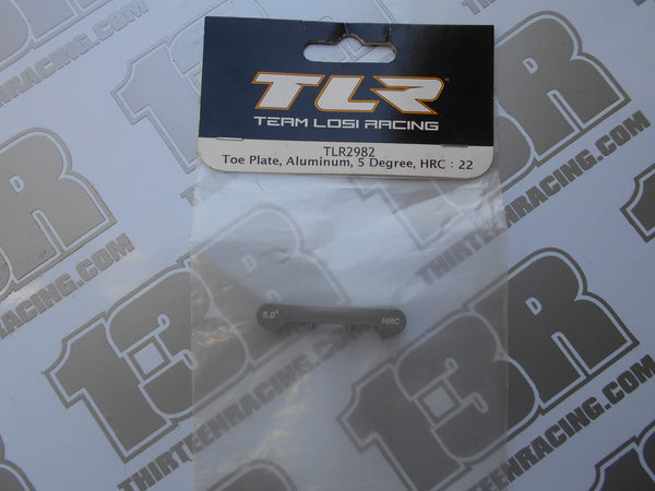 TLR 22/T/SCT Aluminium Rear Toe Plate, 5 Degree - HRC, TLR2982, 2.0