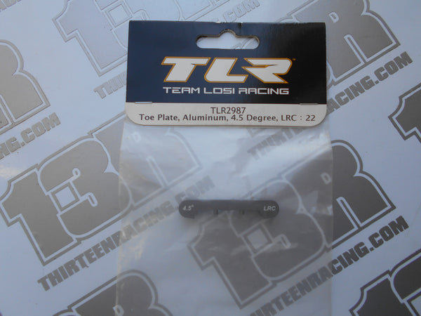 TLR 22/T/SCT Aluminium Rear Toe Plate, 4.5 Degree - LRC, TLR2987, 2.0