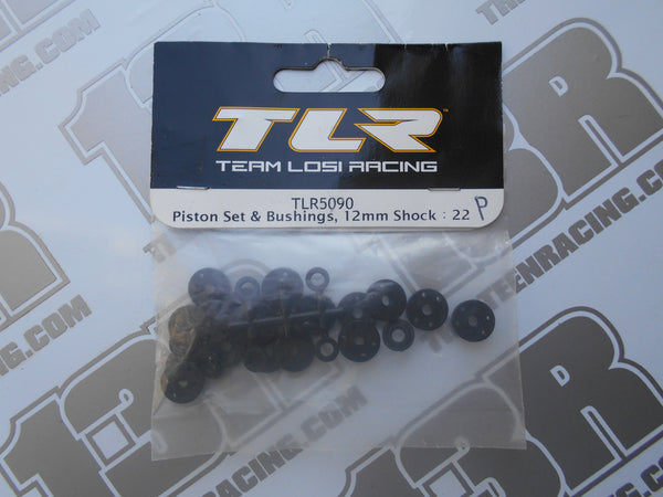 TLR 22/T/SCT Piston Set & Bushings, 12mm Shock, TLR5090