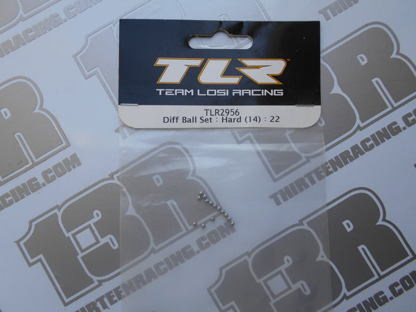 "TLR 22 Diff Ball Set 3/32"" - Hard (14pcs), TLR2956, 22T, 22-SCT, 22-4, 2.0, 3.0, 4.0"