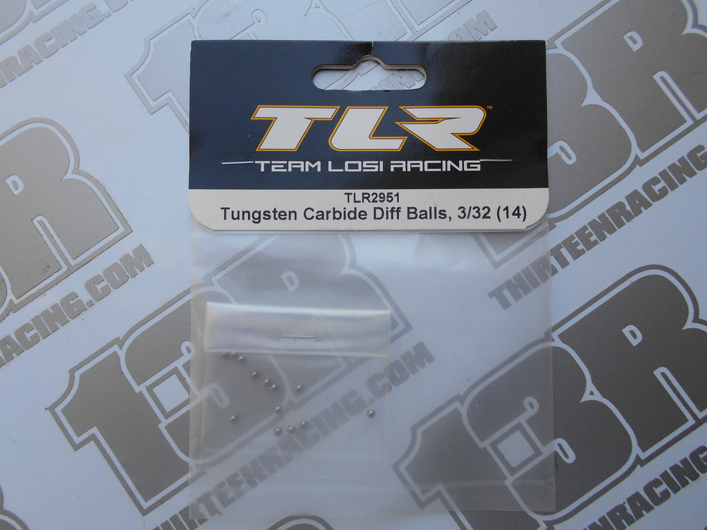 "TLR 22 Tungsten Carbide Diff Ball Set 3/32"" (14pcs), TLR2951, 22T, 22-SCT, 22-4, 2.0, 3.0, 4.0"
