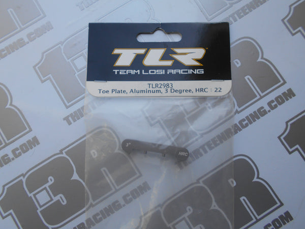 TLR 22/T/SCT Aluminium Toe Plate, 3 Degree - HRC, TLR2983, 2.0