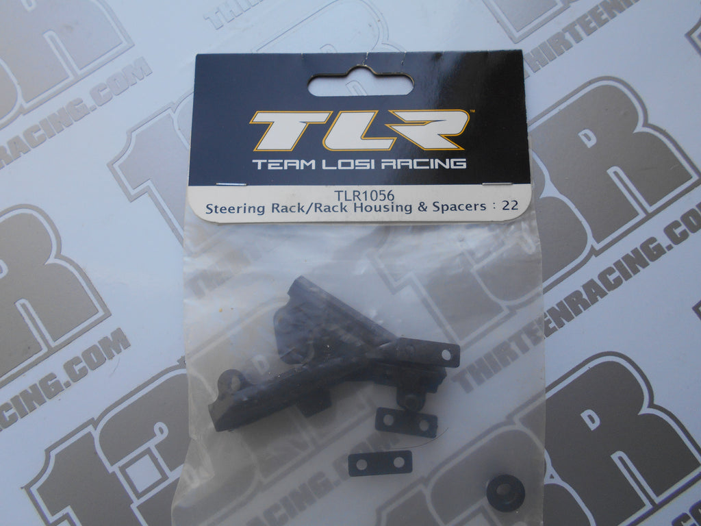 TLR 22 Steering Rack/Housing/Spacers, TLR1056, 22T, 22-SCT