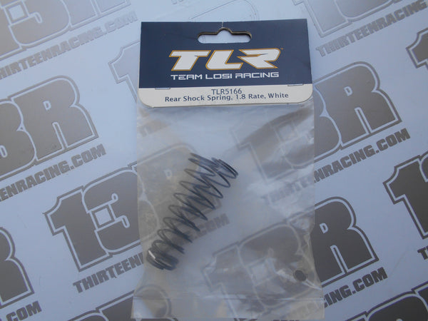 TLR 22 Rear Shock Springs, 1.8 Rate - White (2pcs), TLR5166, TLR22 2.0, TLR 22 3.0, 22-4