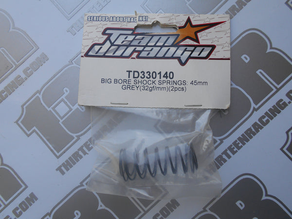 Team Durango Front 45mm Big Bore Shock Springs, Grey (2pcs), TD330140, DEX210, DEX410, DESC, DEST