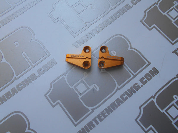 Team Durango DEX210 Exotek Gold Aluminium Front Camber Link Mounts - Used (Pr) For Carbon Front Shock Tower