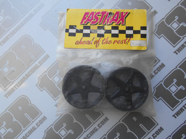 Team Losi XX4 Fastrax Front Wheels - Black 5 Spoke (2pcs), JCX4F-B, XXX4