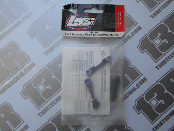 Team Losi Mini 8ight Front Suspension Mount Set - Aluminium, LOSB1885, Mini 8
