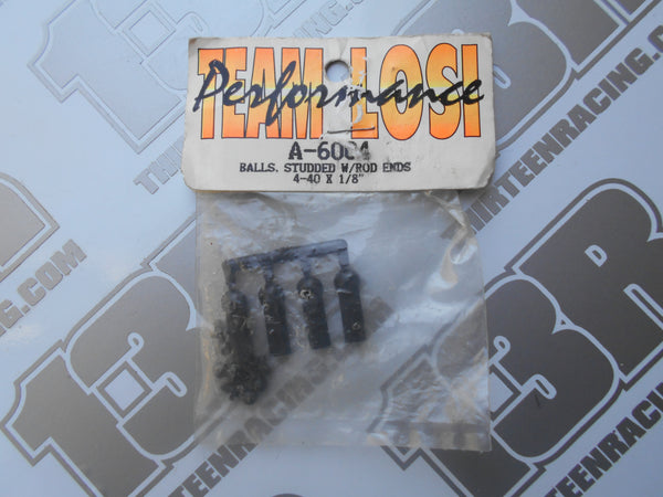 "Team Losi Rod Ends With 4-40 x 1/8"" Ball Studs, A-6004, Junior 2, Junior T, LXT"
