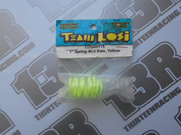 "Team Losi 1"" Springs, 40.0 Rate - Yellow, LOSA5115, Street Weapon, XXX-S"