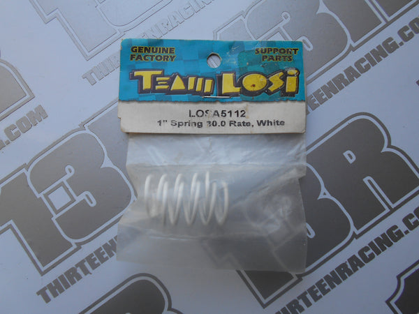 "Team Losi 1"" Springs, 30.0 Rate - White, LOSA5112, Street Weapon, XXX-S"