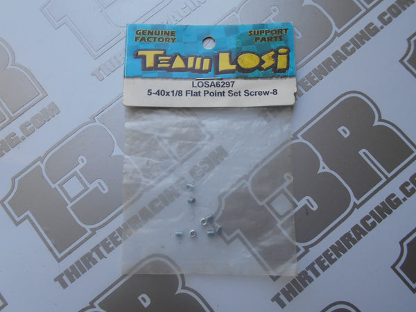 "Team Losi 5-40 x 1/8"" Flat Point Set Screw (8pcs), LOSA6297"