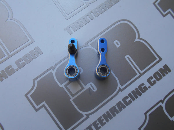Kyosho RB6 JConcepts Blue Aluminium Steering Bellcranks W/Bearings - Used