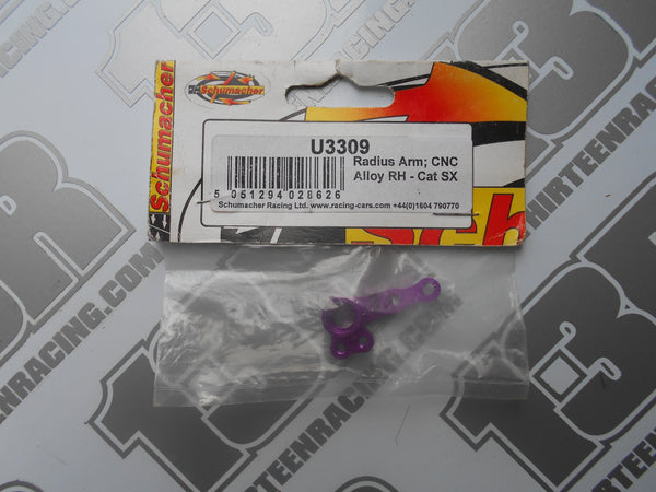 Schumacher CAT SX Purple CNC Alloy Radius Arm - RH, U3309, SX2, SX3