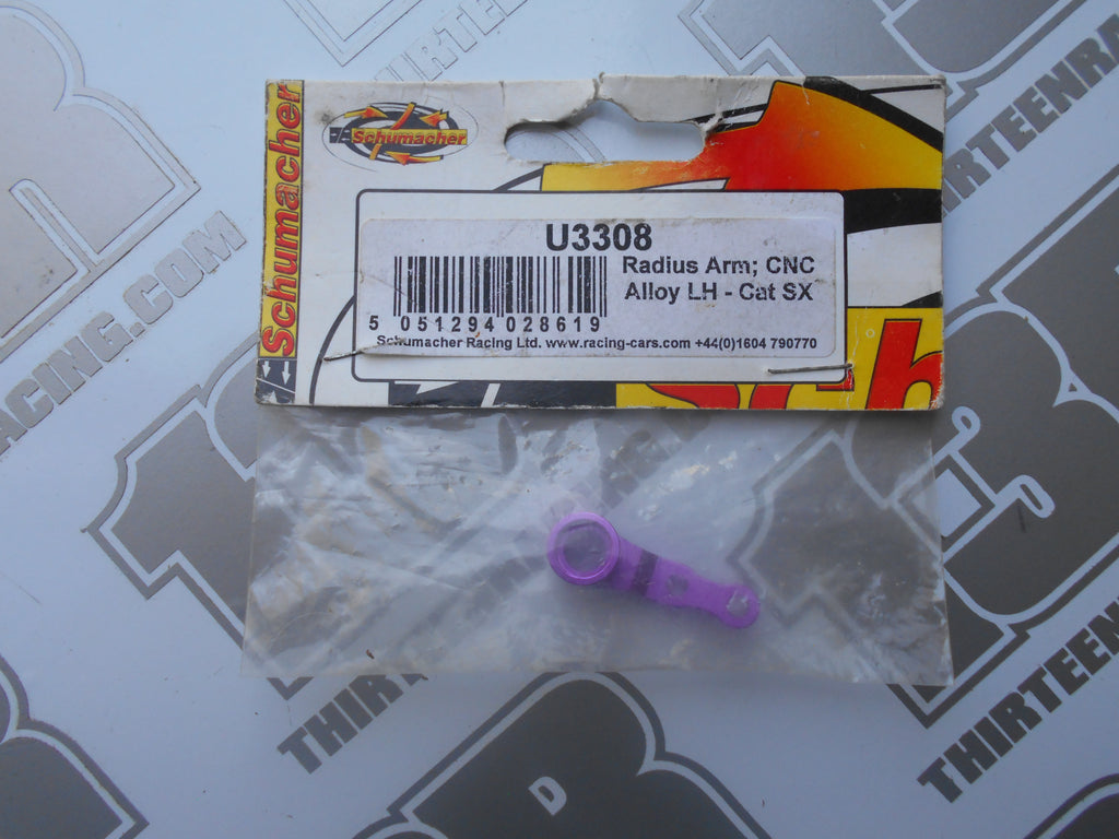 Schumacher CAT SX Purple CNC Alloy Radius Arm - LH, U3308, SX2, SX3