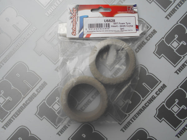 Schumacher SST Foam Tyre Insert 24/25mm Comp (Pr), U6628, Touring Car
