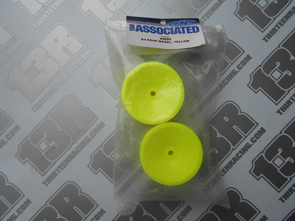 Team Associated B4/B44 Rear Wheel - Yellow (2pcs), # 9689, B4.1, B44.1, Pin Drive