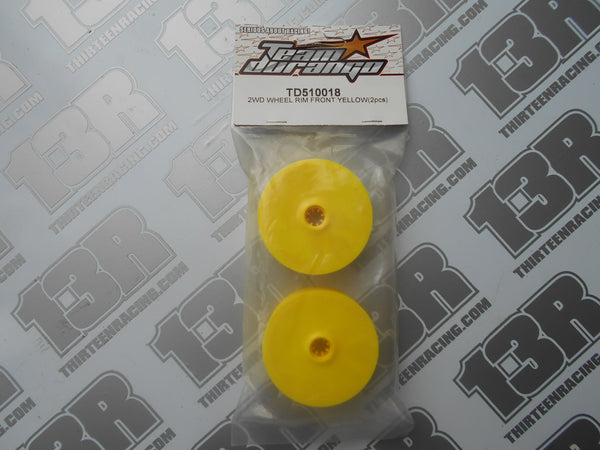 Team Durango DEX210 Front Wheel Rim - Yellow, Bearing Fit (2pcs), TD510018