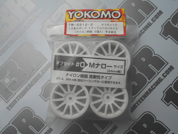 Yokomo 12 Spoke 24mm Touring Car Wheels (4pcs), TW-0212-2. Rally, 12mm Hex Fit