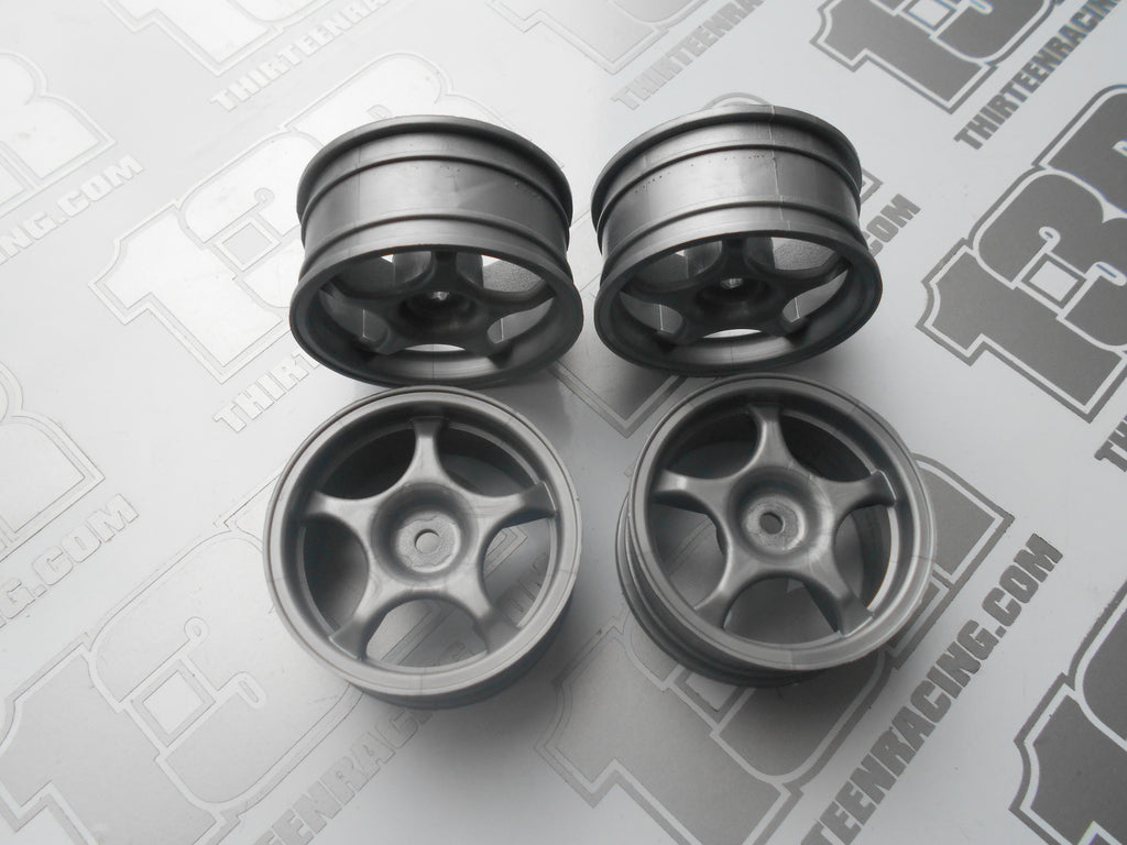 Fastrax Monza 5 Spoke 26mm Wheels - Silver (4pcs), JC005-S, Touring/Rally, 12mm Hex Fit